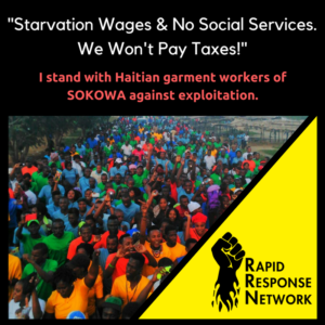 No Social Services. No Taxes! Haitian Workers Need Your Support.