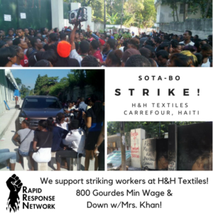 SOTA/H&H Textile Workers Strike. Which Side Are You On?