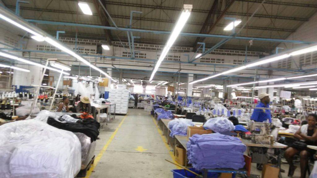 Premium Apparel Factory, nearly empty.