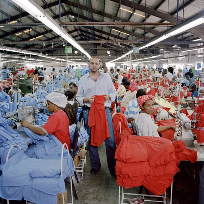 Clifford Apaid in one of the Apaid Group factories.